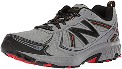 New Balance Men's MT410v5 Cushioning Trail Running Shoe, Steel, 7 D US