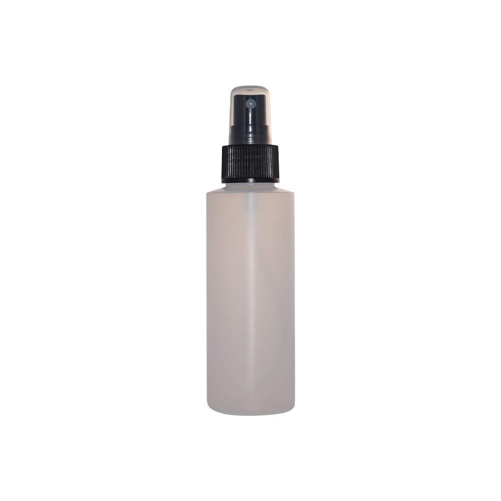 WM Bulk Pack of 24 4 oz Cylinder Bottles w Black Fine Mist Spray Cap Natural-Black
