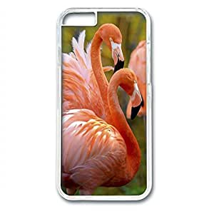 iCustomonline Beautiful Flamingos Snap on Hard Cover Protective PC Transparent Case for iPhone 6 (4.7 inch)