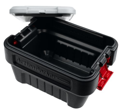Rubbermaid-ActionPacker-Lockable-Storage-Box-8-Gallon-Grey-and-Black-1170