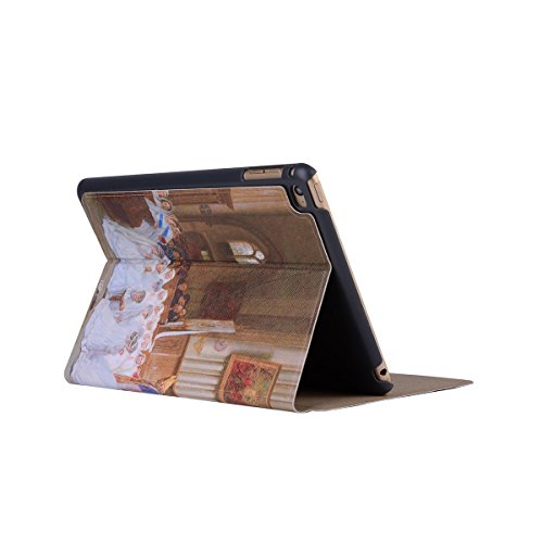 inShang 9.7 inch iPad (2017) Fundas soporte y carcasa para Apple 9.7 inch iPad (2017) ( , smart cover PU Funda ,art style + clase alta 2 in 1 inShang marca negocio Stylus pluma church