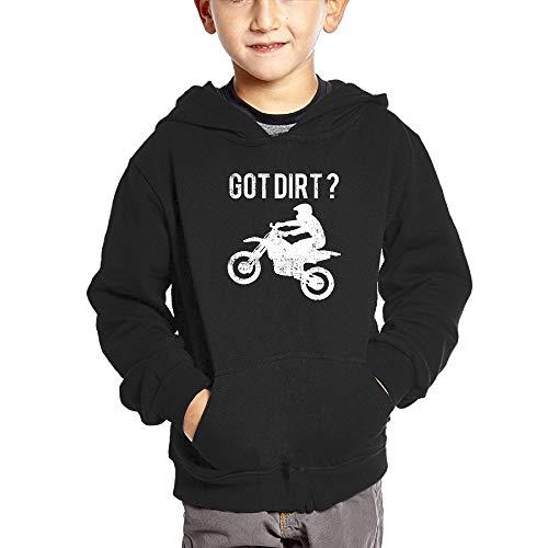 SWEET-YZ Toddler's Got Dirt Bike Hoodies Pullover Hooded Sweatshirt