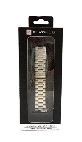 - Platinum Chain Link Band for Apple Watch 42mm Silver PT-AWB42SCL