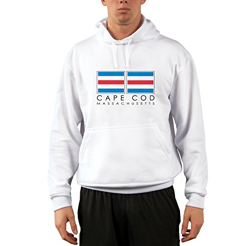 Altered Latitudes Cape Cod Nautical Flags UPF 50+ Performance Hoody Sweatshirt XXX-Large White