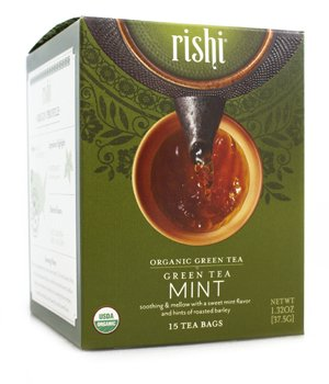 Rishi, Tea Green Mint Organic, 15 Count ()