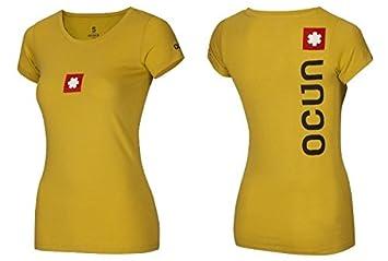 9ece10b051781c Ocun Logo Tee - Gelb - Damen T-Shirt Größe XS  Amazon.de  Sport ...