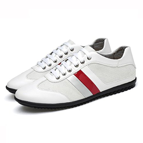 Chaussures Maille 39 Confort en White De Printemps Chaussures Sport Automne Noir Hommes Cuir Respirant Baskets Sport Blanc 8wqvaEUB