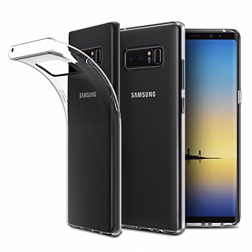 EasyAcc Case for Samsung Galaxy Note 8, Soft TPU Crystal Clear Slim Anti Slip Case Transparent Back Protector Cover Compatible with Samsung Galaxy Note 8 6.3