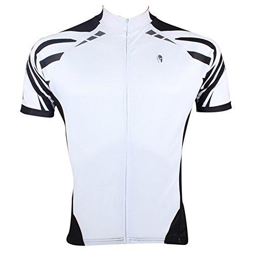 Xinzechen Men's Bicycle Jersey Short Sleeve White Melody Size XXXL