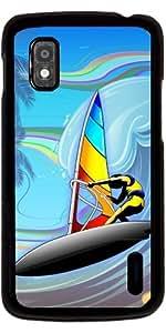 Funda para Google Nexus 4 - Windsurfista En Olas Del Mar by BluedarkArt
