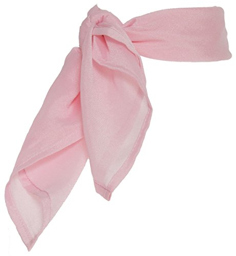 Hip Hop 50s Shop Vintage Style Sheer Chiffon Scarf - Adult Size Light Pink