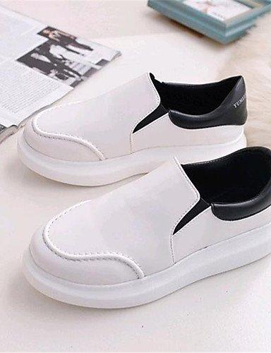 cn39 Negro ZQ us8 white mujer 5 Casual white uk4 uk6 Exterior eu39 cn37 7 uk6 Plataforma us6 Semicuero 5 Mocasines eu39 eu37 us8 white 5 Zapatos de Blanco Creepers cn39 zzx7wRqr