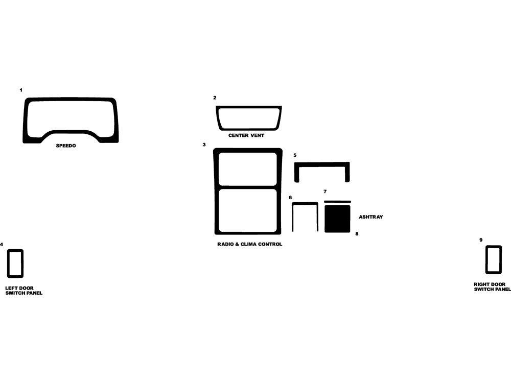 Rvinyl Rdash Dash Kit Decal Trim for Jeep Wrangler 2007-2010 Chrome Purple