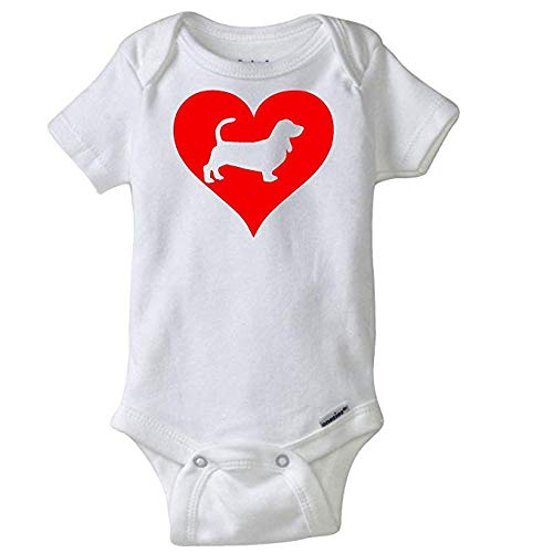 Used, Love Heart Basset Hound Infant Bodysuit Pet Dog Baby for sale  Delivered anywhere in USA