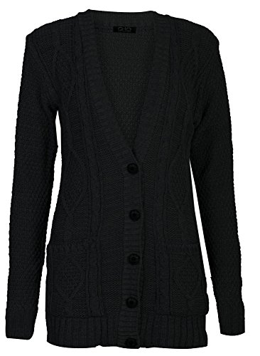 Fashion Manches Cable Tricot Cardigan Fast Papy Longues Z8vvq