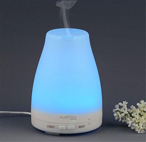[Aution House-Aromat Duft Lampen Diffuser Duftöldiffusor Aromatherapie 100ml Ätherische Öl Ultraschall Luftbefeuchter Humidifier]-Huston Lowell (7 Farbigs)