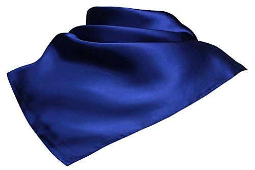 Ll Womens Trendy Royal Blue Silky Satin Neckerchief Square Scarf Vintage1950s