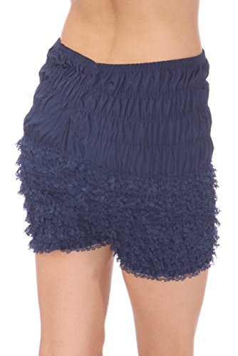 Malco Modes Womens Ruffle Panties Bloomers Dance Bloomers, Sissy Steampunk (Navy Blue, X-Large) -