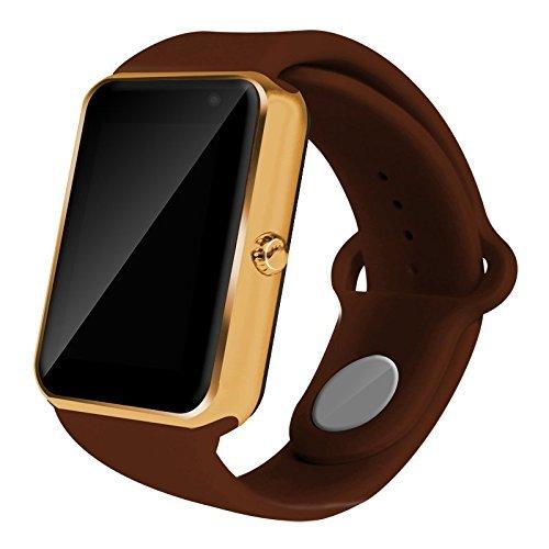 AIYIBEN U7 Bluetooth Touch pantalla Bluetooth 3.0 Smart watch muñeca reloj teléfono reloj Para iPhone Samsung Sony LG HTC y mucho más (Brown)