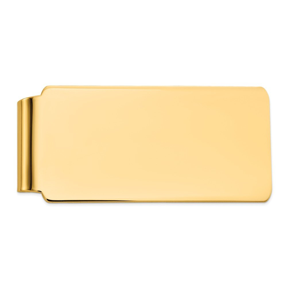 Men's 14k Yellow Gold Polished Wide Fold-Over Money Clip