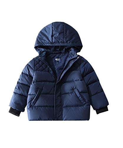 (M2C Toddler Girls Winter Hooded Warm Down Quilted Puffer Jacket 2/3 Navy)