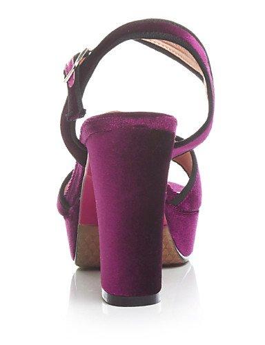LFNLYX Zapatos de mujer-Tacón Robusto-Tacones / Plataforma / Talón Descubierto / Punta Abierta-Sandalias-Oficina y Trabajo / Vestido / Casual- Burgundy