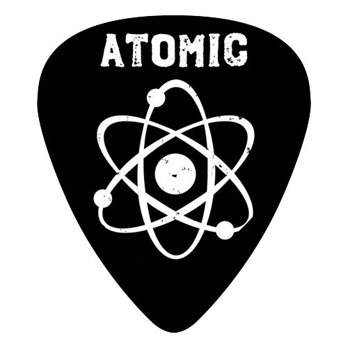 (Distressed Atom Science 351 Shape Medium Classic Celluloid Picks, 12-Pack, For Electric Guitar, Acoustic Guitar, Mandolin, And Bass)