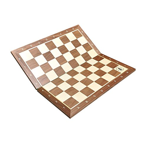The House of Staunton Folding Walnut & Maple Wooden Chess Board - 2.25