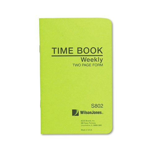 Wilson Jones Foreman's Time Book, Week Ending, 4-1/8 x 6-3/4, 36-Page Book S802A
