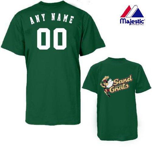 (CUSTOM SAVANNAH SAND GNATS JERSEY (Add Name & Number) Adult Large 100% Cotton MiLB Majestic T-Shirt Minor League Baseball Replica Jersey)