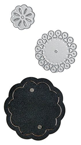 Sizzix 660672 Movers and Shapers Magnetic Die with Thinlits, Lotus Flower Stack by Jill MacKay ()