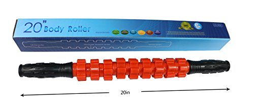 Water-Drop 20″ High strength massage stick for Relief Musle Promote Blood Circulation Deep Tissue Massage Roller for Sore Muscles (Orange)
