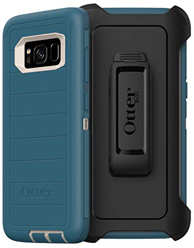 OtterBox Defender Series Rugged Case & Belt Clip Holster for Samsung Galaxy S8 (Only) Retail Packaging - Big Sur