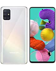 """Samsung Galaxy A51 Smartphone, 2.3 GHz, 1.7 GHz Octa-Core, 6 GB, 128 GB ROM, 6.5"""" Display, Android 10, Prism Crush White"""