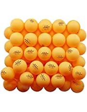 50-Pack 3-Star 40+ ABS Ping Pong Balls, Advanced Training Table Tennis Balls for Beginners and Professinals, with Good Spin and Bounce, Ideal for Indoor and Outdoor, Entertainment Games