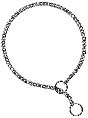 Haute Dauge Best in Show Jeweler Curb Link Dog Show Chain Collar | Training Collar | Chrome 1.6 mm Link x Size 16