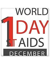 1st December World AIDS Day Solidarity HIV Awareness Symbol Ceramic Bisque Tiles for Decorating Bathroom Decor Kitchen Ceramic Tiles Wall Tiles