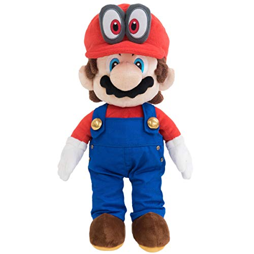 (Little Buddy 1693 Super Mario with Removable Red Cappy Hat (Odyssey Style) Plush, 13