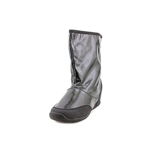 Sporto Womens Sarah Closed Toe Mid-Calf Rainboots, Black/Black, Size 6.5 (Rain Sporto Boots)