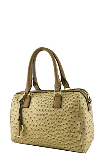 womens-designer-faux-leather-fashionable-ostrich-top-handle-bag-va2014-taupe