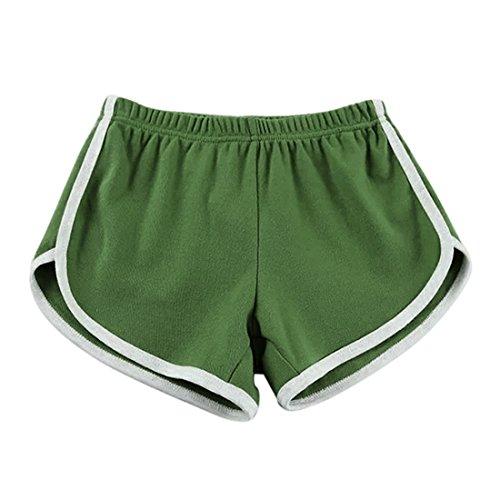 Girls Belted Twill Pants (Haotfire Women's Summer Pants Sports Gym Workout Yoga Shorts)