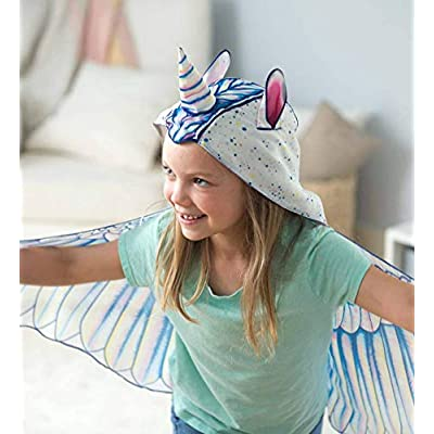 HearthSong Fabric Unicorn Wings for Kids' Dress Up Imaginative Play, 46