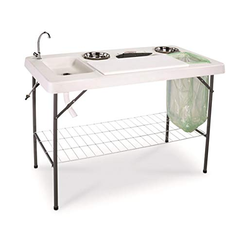 Deluxe Gear - Guide Gear Deluxe Fish/Game Processing Table with Faucet and Accessories