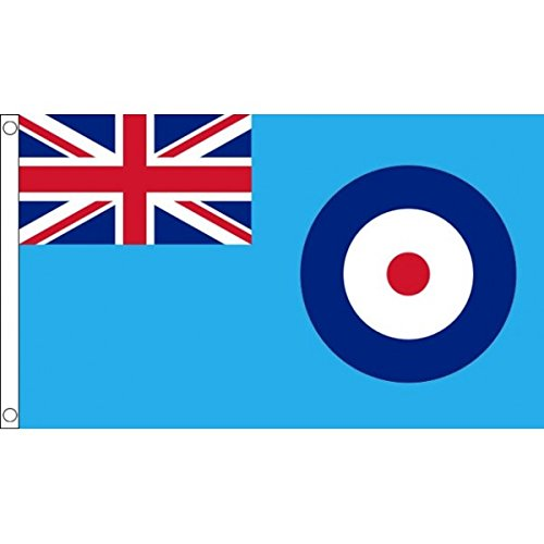 5ft x 3ft (150 x 90 cm) RAF Blue Ensign Royal Air Force British Military Forces Troops 100% Polyester Material Flag Banner Ideal For Pub Club School Festival Business Party Decoration UKFlagShop