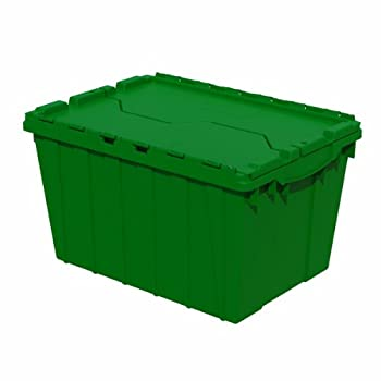 Image of Home Improvements Akro-Mils, 39120GRN, Attached Lid Container, 1.62 Cu Ft, Green,21.5'L x 15' W x 12.5' H