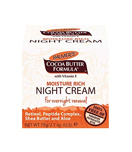 Palmer's Cocoa Butter Formula Overnight Moisture Rich Night Facial Cream, 2.7 oz. (Pack of 6) (Night Shea Butter Cream)