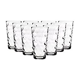 Drinking Glasses [set of 10] Highball Glass Cups 17oz, By Home Essentials & Beyond – Premium Cooler Glassware – Ideal…
