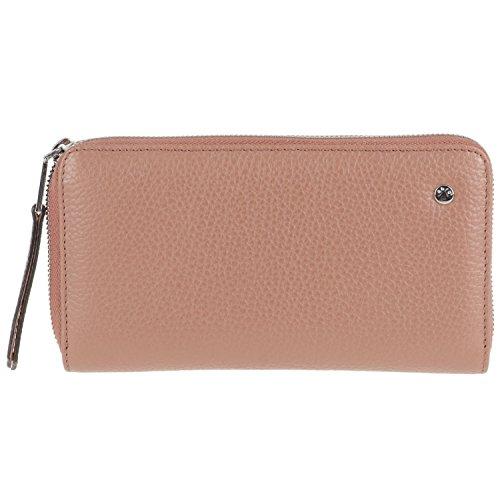 abro+ Adria 2er Set Damen Leder Tasche und Geldbörse Ecru