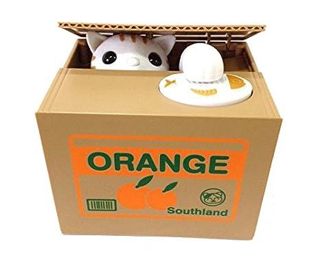 Hucha para gatos, diseño de animales, con caja de ahorro de dinero con voz para niños: Amazon.es: Hogar