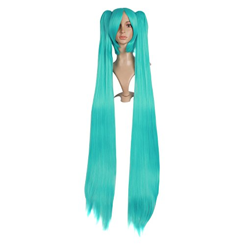 MapofBeauty 2 Ponytails Straight Long Party Costume 120cm Cosplay Wig (Light -